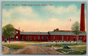 Kenton OH~Smokestack @ Edge of H L Runkle Chocolate Candy Factory~1910 Acmegraph