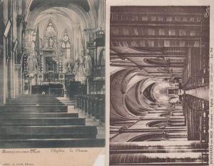 Bernieres Sur Mer Eglise Church France French 2x Antique Postcard