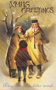Christmas~Blow Thou Bitter Wind~Men Blow Horns in Storm~BB London~Saxony 1910