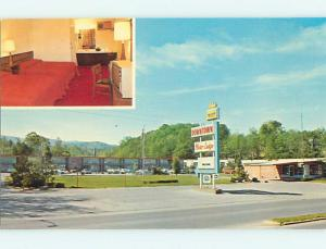 Unused Pre-1980 OLD CARS & DOWNTOWN MOTOR LODGE MOTEL Middlesboro KY s6394