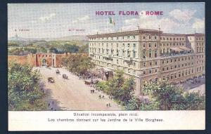 Hotel Flora Rome Italy unused c1910's