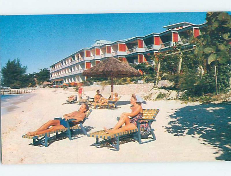 Unused Pre-1980 VINTAGE LONG LAWN CHAIRS AT HOTEL Montego Bay Jamaica F6041