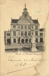 belgium, GAND GENT, Le Theatre Flamand, Theater (1905)