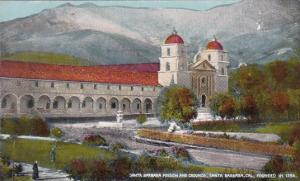 California Sainta Barbara Mission And Crounds
