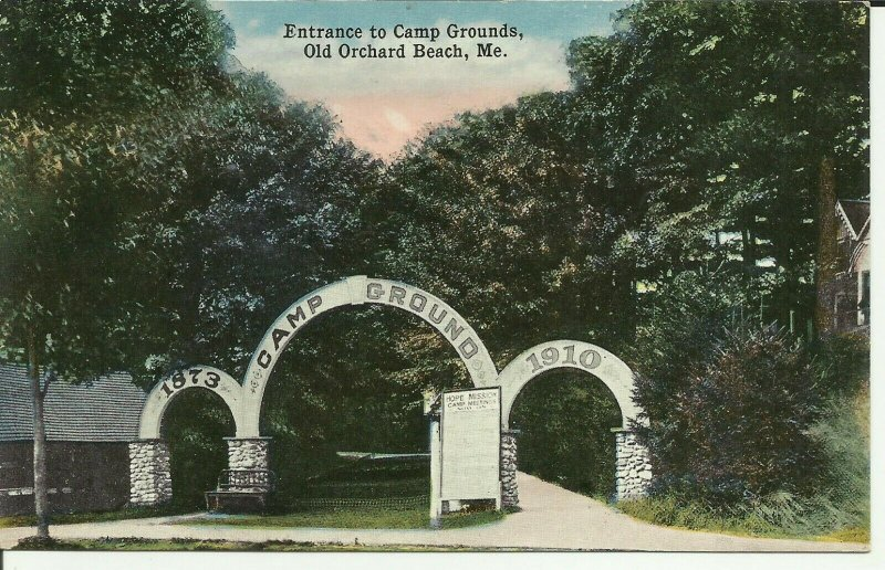 Old Orchard Beach,Me., Entrance To Camp Grounds