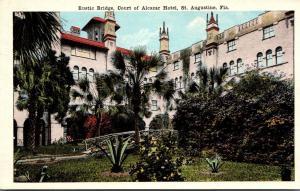 Florida St Augustine Hotel Alcazar Court With Rustic Bridge