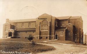 NEW CONCORD, OHIO MUSKINGUM COLLEGE AUDITORIUM-1914 RPPC REAL PHOTO POSTCARD