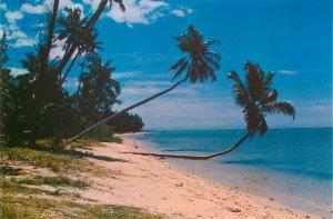 Mauritius point-au-sable beach postcard