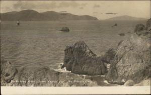 San Francisco CA Bay Lighthouse 1910 Used Real Photo Postcard