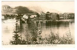 RP: View from 1st island , ATLIN , B.C. , Canada , 1900-10s