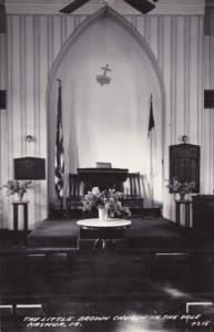 Interior The Little Brown Church In The Vale Nashua Iowa Real Photo