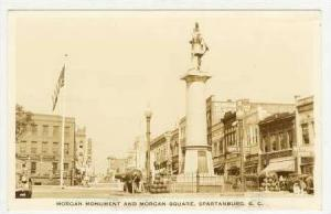 RP  Morgan Monument & Square, Spartanburg, South Carolina, PU-1943