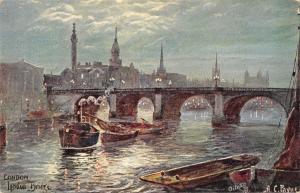 BR93676 london bridge painting postcard ship bateaux   uk