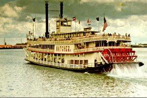 Louisiana New Orleans Jackson Square Sternwheeler Natchez Departing Toulouse ...