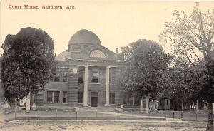 D74/ Ashdown Arkansas AR Postcard c1910 Court House Building
