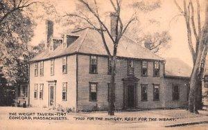 The Wright Tavern-1747 Concord, Massachusetts Postcard