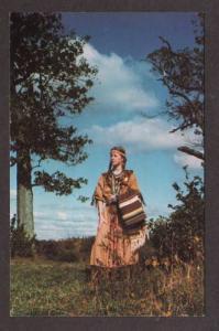 Indian Maiden White Flower BETH ANN CRIMMINS Postcard
