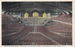 OCEAN GROVE, New Jersey, 10-30s; Interior Auditorium, Largest Organ In The World