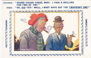 Scotch Comic Series Men Smoking Cigars