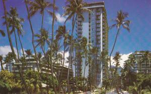 WAIKIKI, Oahu, Hawaii, 40-60s; Waikiki Tower, Reef Hotel