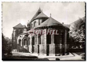 Postcard Modern Church Prioress Sain Martin Mi Romanesque Gothic mid Champs