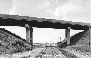 G24/ Greene Iowa RPPC Postcard c1930s Viaduct Railroad
