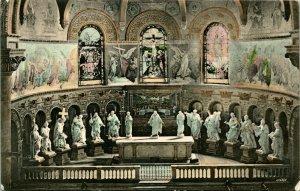 Vtg Postcard 1906 Stanford Memorial Church CA Int. Altar Pre-Earthquake RARE