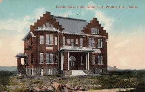 FORT WILLIAM, Ontario, Canada, 1900-1910´s; Isabella Street Public School