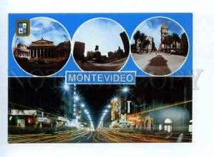 179601 Uruguay Montovideo diferent aspects old postcard