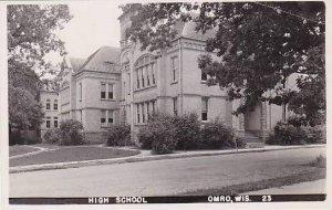 Wisconsin Omro High School Real Photo RPPC