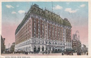 NEW YORK CITY, New York, PU-1916; Hotel Astor