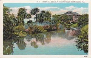 Florida Fort Pierce Tropical Scene At Country Club