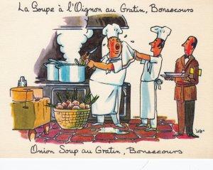 MONTREAL , Quebec , Canada , 50-70s ; La Beaver Club Restaurant , Onion Soup ...