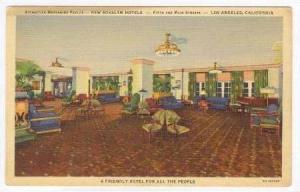 Mezzanine Parlor, New Rosslyn Hotel, Los Angeles, California, 30-40s