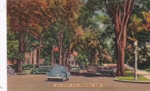 Massachusetts Greenfield Main Street Looking East