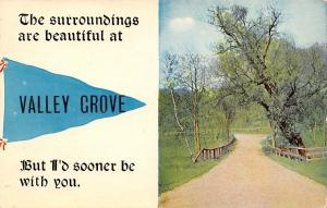 I'd Sooner Be With You at Valley Grove West Virginia~1910 Pennant Postcard