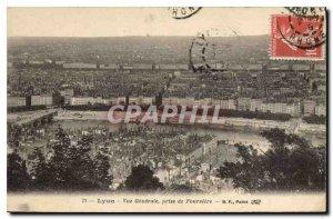 Postcard Old Lyon Vue Generale is taken Fourviere