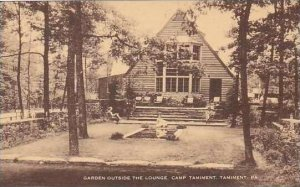 Pennsylvania Tamiment Garden Outside The Lounge Camp Tamiment Artvue