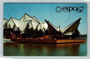 Montreal QC-Quebec Canada, Expo67 Le Pavilion De L'Ontario Chrome c1967 Postcard
