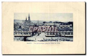 Old Postcard Nancy Panoramic View from I & # 39Hotel City