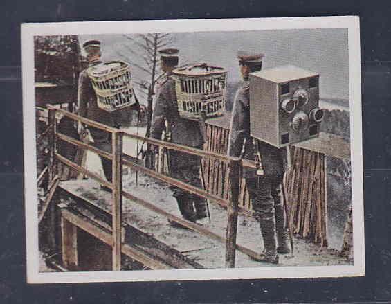 GERMANY TOBACCO CARD WWI 6x5 cms. SOLDIERS AAD5169