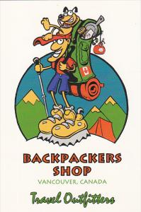 ADV: Travel Outfitters, Backpackers Shop, Dog, Vancouver, British Columbia, C...