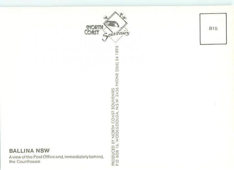 Ballina NSW Australian Post Office Courthouse of Ballina  Postcard  # 6577