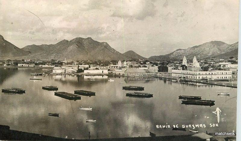 1940s Guaymas Mexico Waterfront Bahia RPPC Real photo postcard 13199