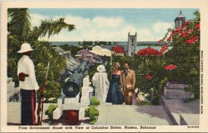 Nassau Bahamas Government House Linen c1961 w/ 6d Stamp Postcard F52