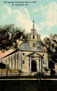 Florida St Augustine Old Spanish Cathedral 1915