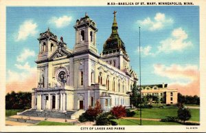 Minnesota Minneapolis Basilica Of St Mary 1937 Curteich