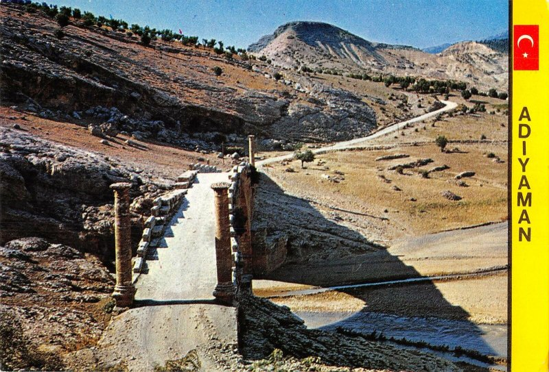B108685 Turkey Adiyaman Romalilar Devrinden Kalma Turihi Sutunlu Cendere