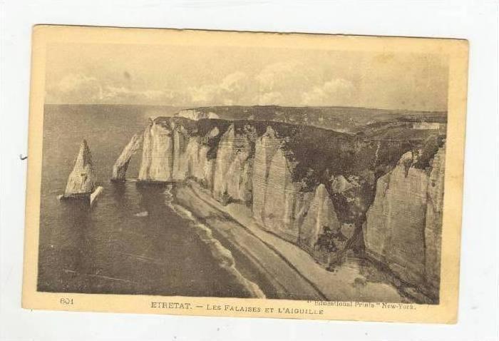 Les Falaises Et L'Aiguille, Etretat (Seine-Maritime), France, 1900-10s