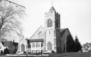 G31/ Whitinsville Massachusetts RPPC Postcard c1940s Methodist Church